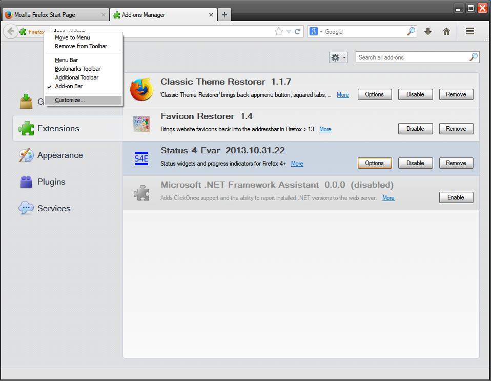 Отключение интерфейса Australis в Firefox 29+ - Официальный