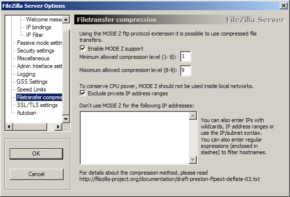 Filetransfer compression