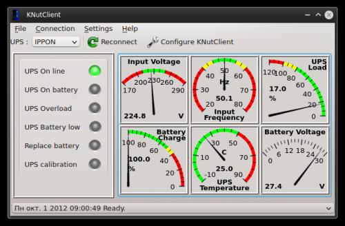 KNutClient, запущенный в KDE 4