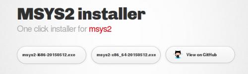 Страница загрузки MSYS2