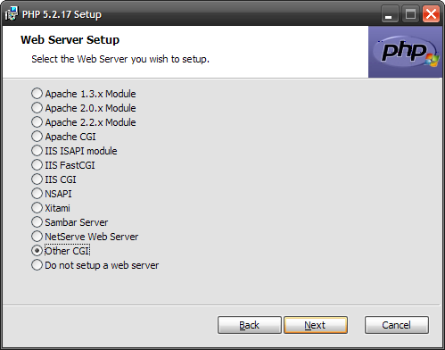 PHP - Web Server Setup