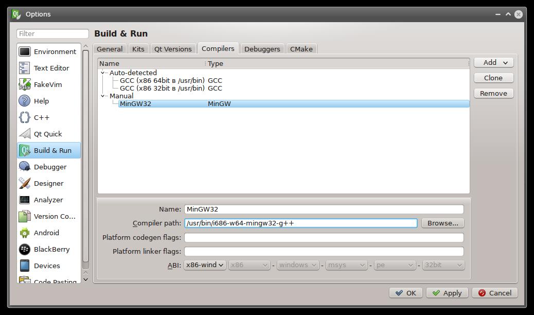 Сборка статических приложений на Qt для Windows из Linux